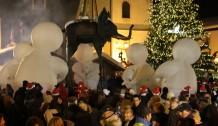 La départ du Père Noël - Megève Décembre 2011 (crédits Afozic)